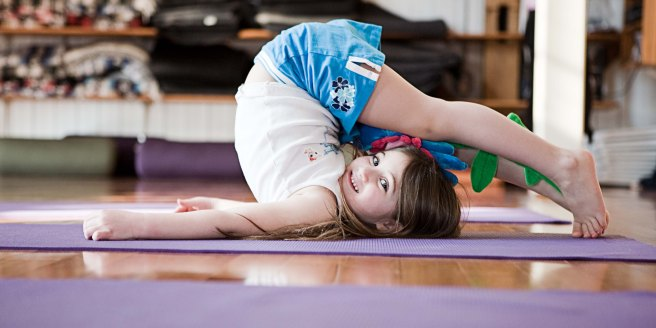 little girl halasana